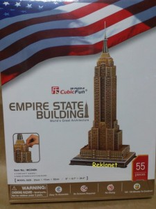PUZZLE 3D ARCHITEKTURA, EMPIRE STATE BUILDING, 55 ELEM.